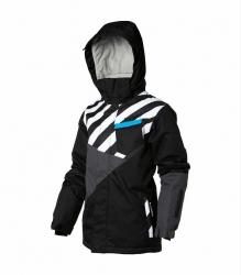 O´Neill Winter Ski Jacke HAWKING schwarz-grau-weiß-blau