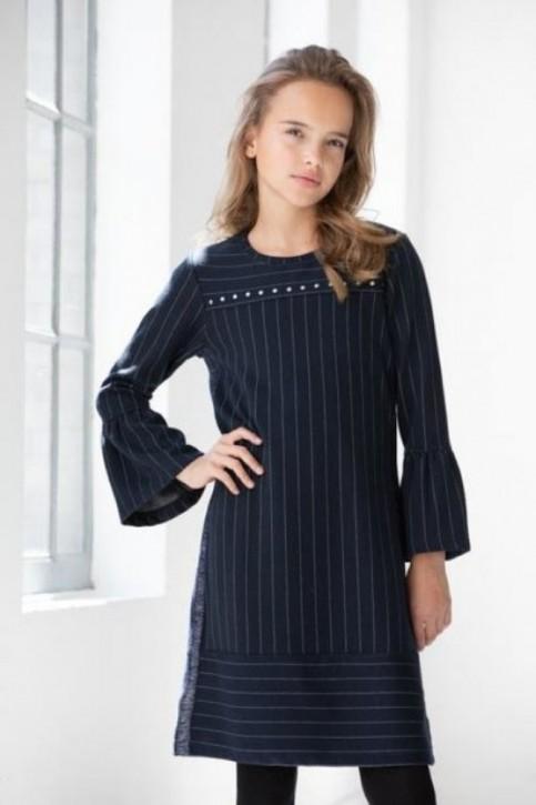 Geisha Nadelstreifen-Kleid navy