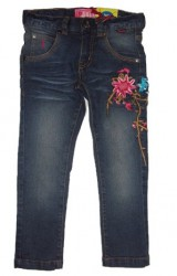 Paglie Jeans blue denim Stickerei