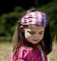 Paglie Haarband Bandana pink-weiss Karo