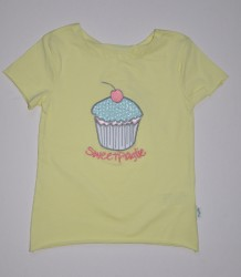 Paglie T-Shirt ein Cup Cake wax yellow