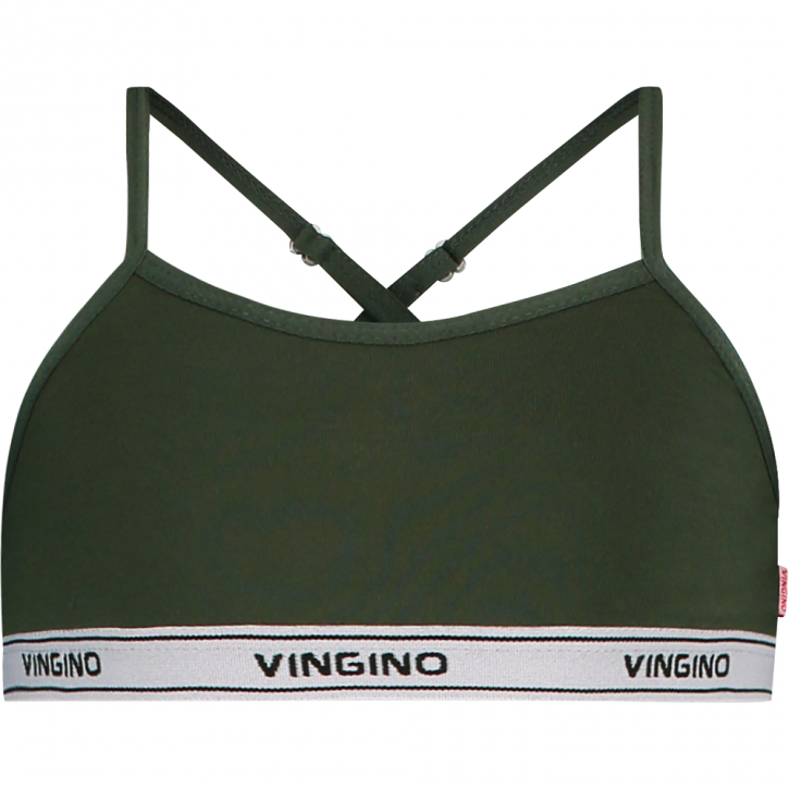 Vingino Bra / Bustier / Top SOLID dark army