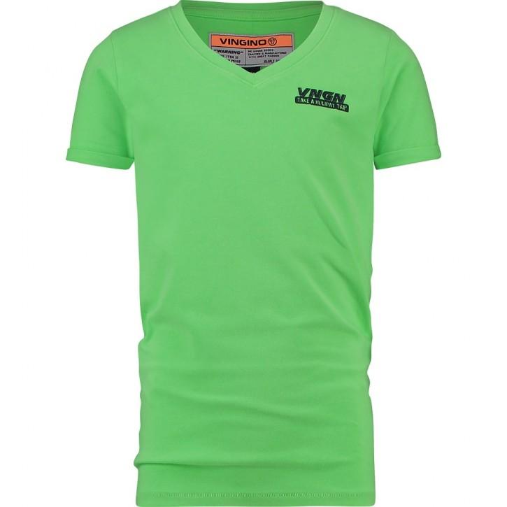 Vingino T-Shirt V-Ausschnitt HAMA neon green