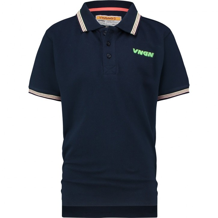 Vingino Polo-Shirt V-Ausschnitt KAMERON dark blue