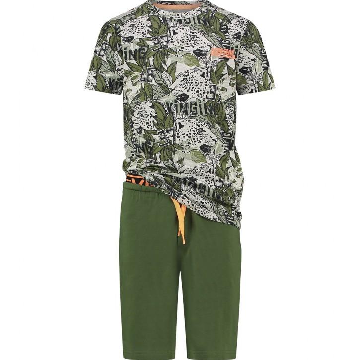 Vingino Schlafanzug/Pyjama kurz WADY SET dark army