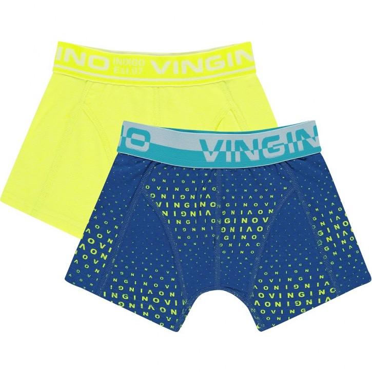 Vingino Boxer/Short 2er-Pack LETTER neon yellow