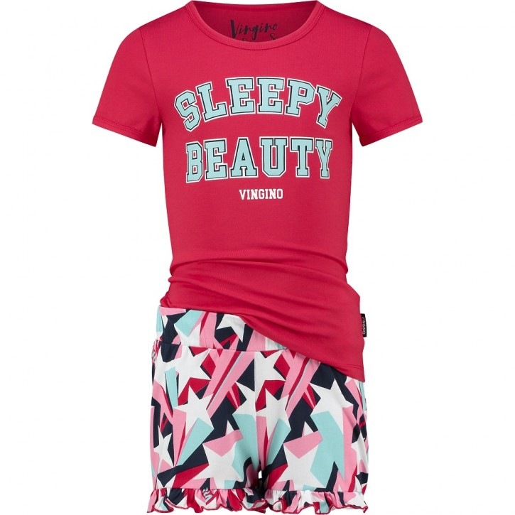 Vingino Schlafanzug/Pyjama kurz WEVALIE SET red lollipop
