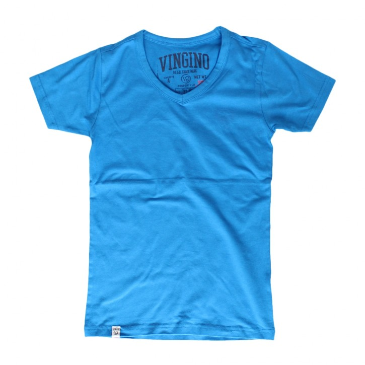 Vingino Basic T-Shirt V-Neck HADLEY paint blue