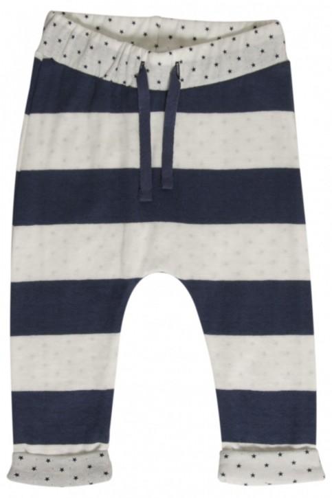 Hust & Claire Baumwollhose Streifen blau weiß