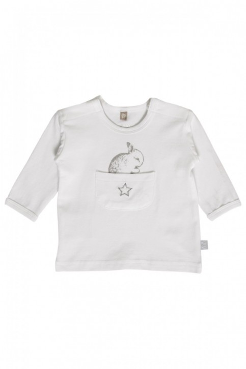 Hust & Claire Langarm-Shirt/Longsleeve Hase weiß