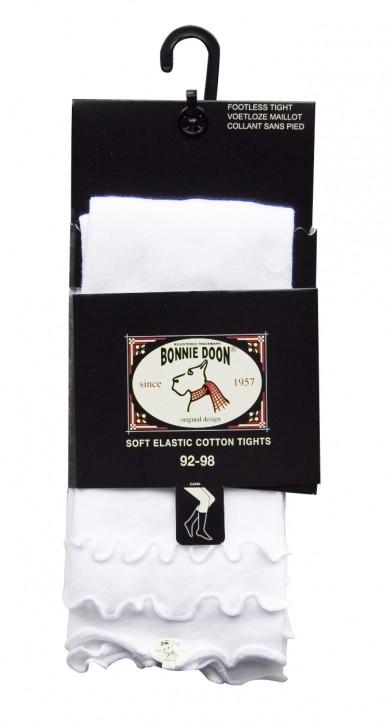 Bonnie Doon Baby Capri-Legging Frou Frou Wellensaum weiß