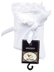 Bonnie Doon Umschlag-Socken mit Spitzenborte weiß