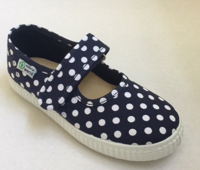 NATURAL WORLD Mädchen Schuhe Punkte marine