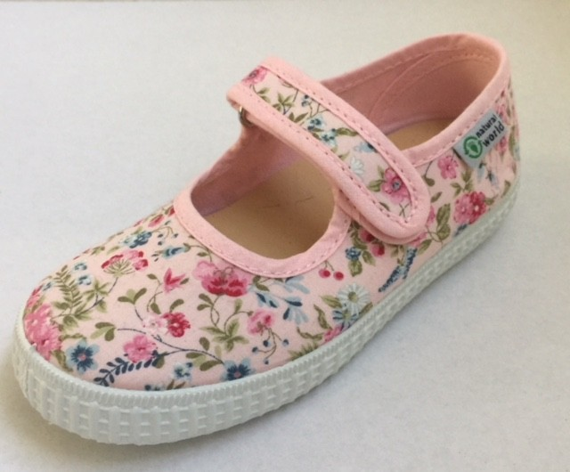 NATURAL WORLD Mädchen Schuhe flowers rosa