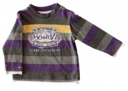 Whoopi Shirt Streifen lila-khaki