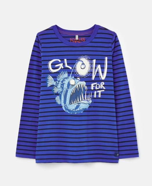 Joules Jungen Langarm-Shirt/Longsleeve RAYMOND Streifen blau