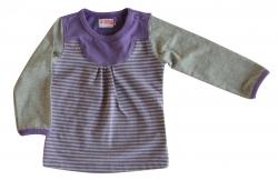 Ducky Beau Langarmshirt/Longsleeve purple/grey-melange