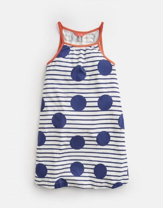 Joules Träger-Kleid Streifen Punkte