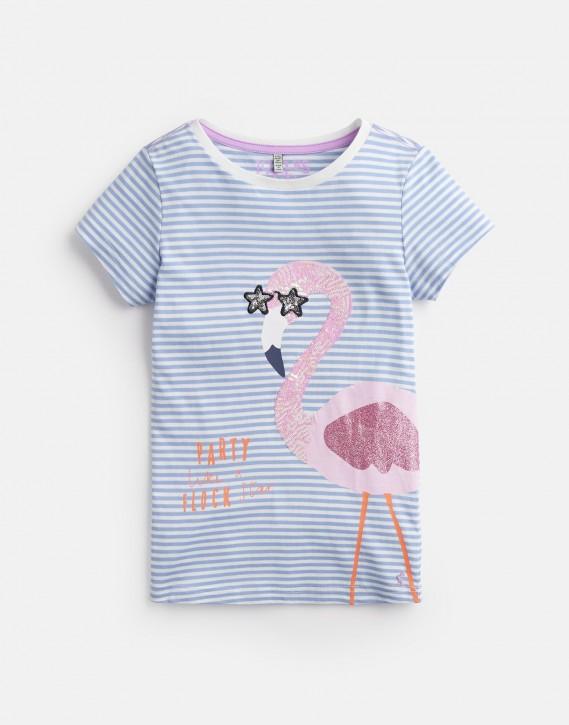 Joules Mädchen T-Shirt ASTRA Flamingo Streifen