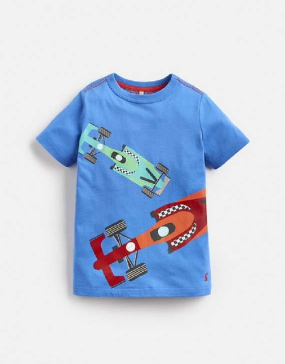 Joules Jungen T-Shirt Rennautos blau