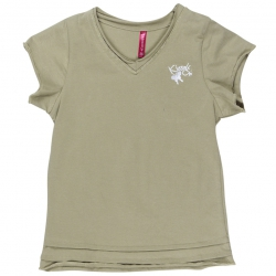 Kiezel-tje Basic T-Shirt soft grün
