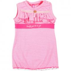 Kiezel-tje Mini Kleid Streifen pink