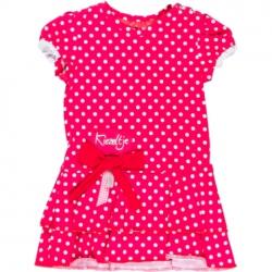 Kiezel-tje Mini Kleid Punkte pink