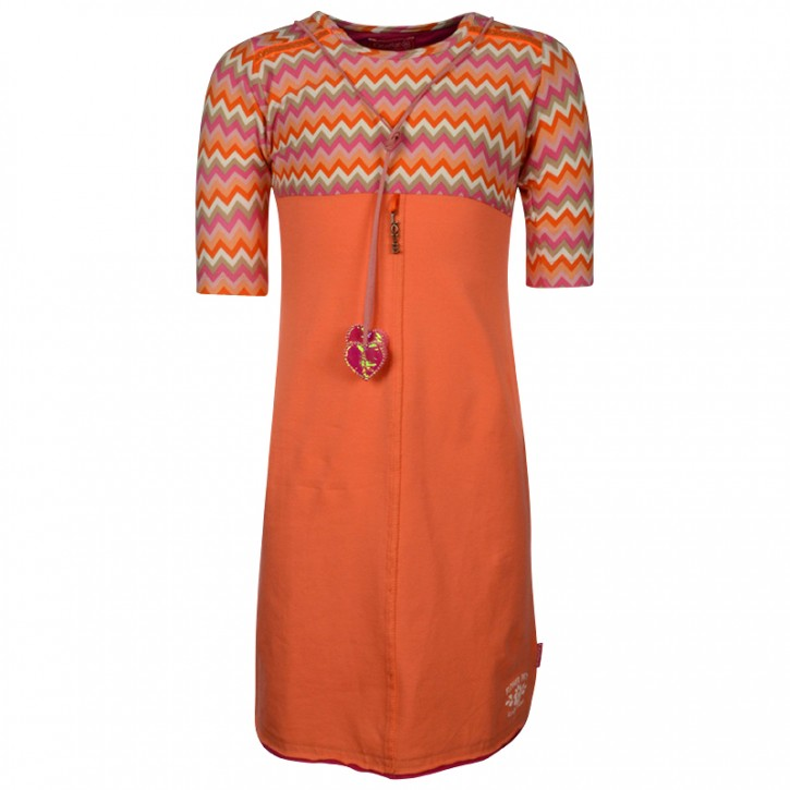 Kiezel-tje halbarm-Kleid zickzack pink
