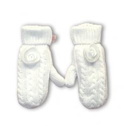 Pezzo D´oro Strick-Handschuhe mit gefüttert offwhite