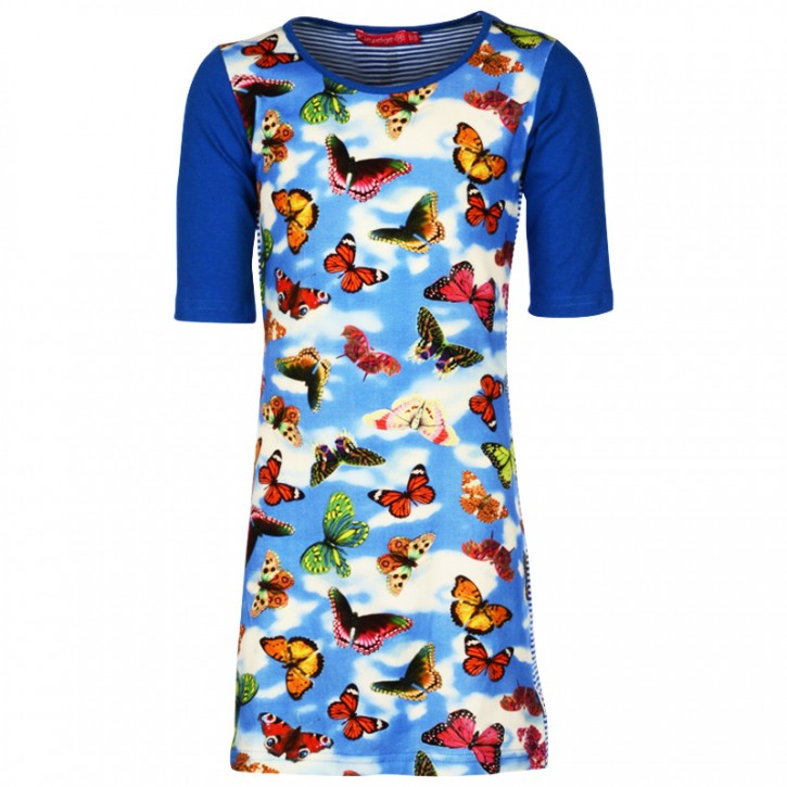 Kiezel-tje Kleid Schmetterlinge blau