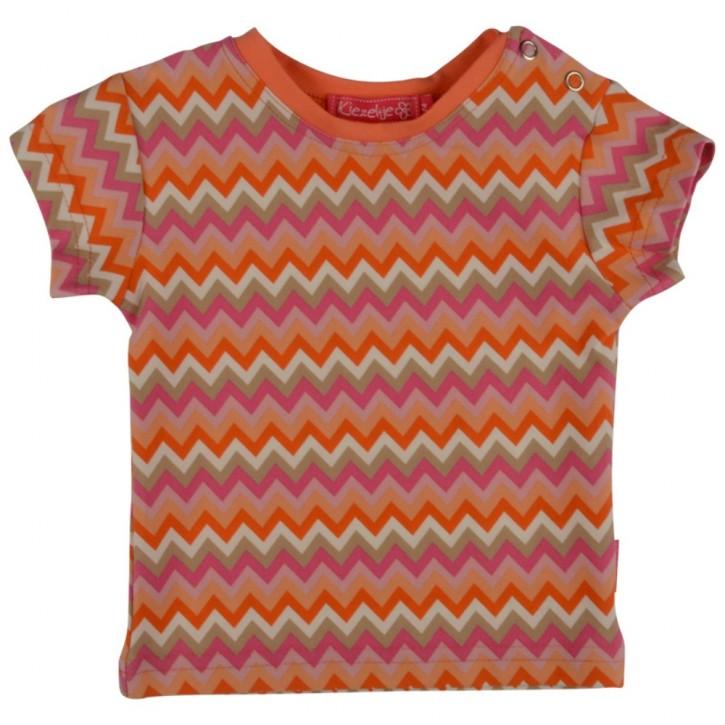 Kiezel-tje Mini T-Shirt zickzack pink