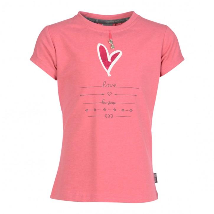 KIE stone T-Shirt Herz raspberry