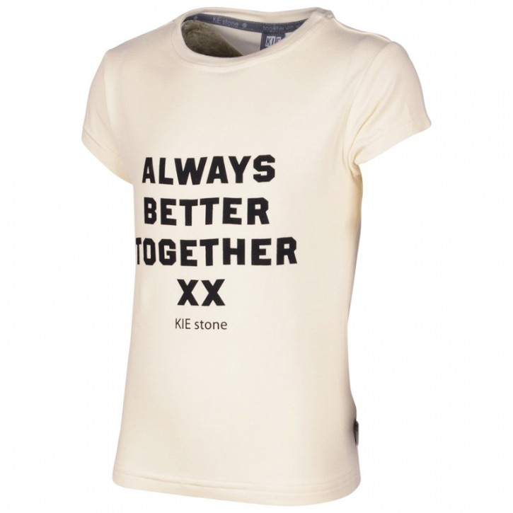 KIE stone T-Shirt ALWAYS TOGETHER BETTER offwhite