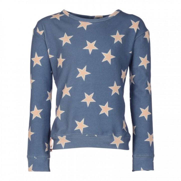KIE stone Langarmshirt/Longsleeve/Sweater Sterne blau