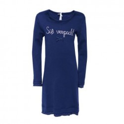 """Louis & Louisa Mädchen Nachthemd """"Süß verpackt"""" dunkelblau"""