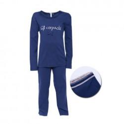"Louis & Louisa Mädchen Schlafanzug/Pyjama ""Süß verpackt"" dunkelblau"