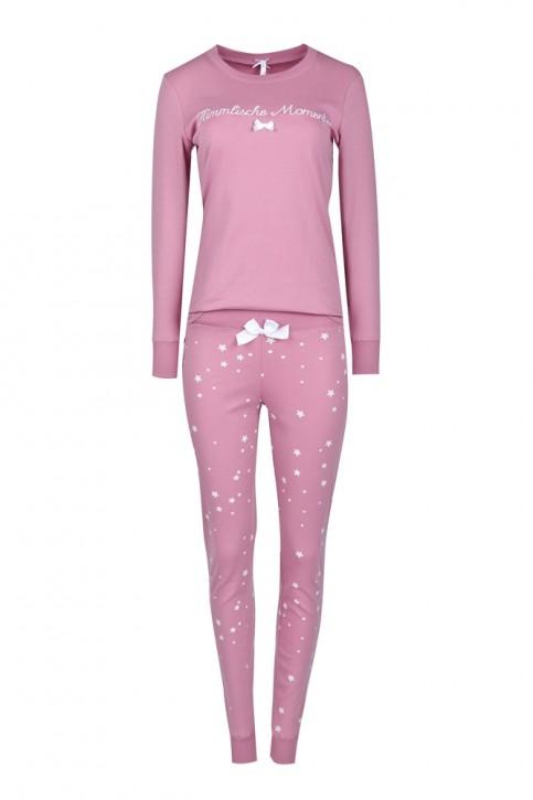 Louis & Louisa Damen Pyjama / Schlafanzug HIMMLISCHE MOMENTE rosa allover