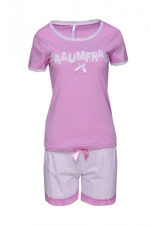 Louis & Louisa Damen Shorty Set TRAUMFRAU pink lavender/allover