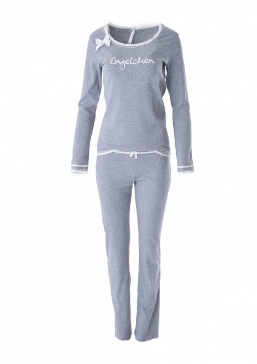 """Louis & Louisa Damen Schlafanzug/Pyjama """"Engelchen"""" grau"""