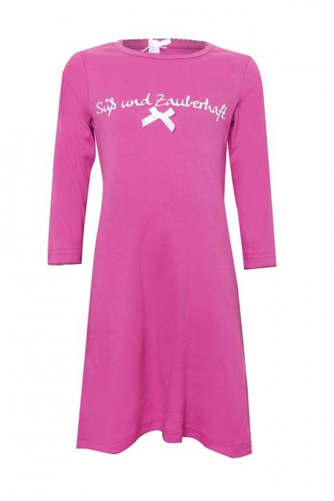 Louis & Louisa Damen Nachthemd Rippe SÜSS UND ZAUBERHAFT pink