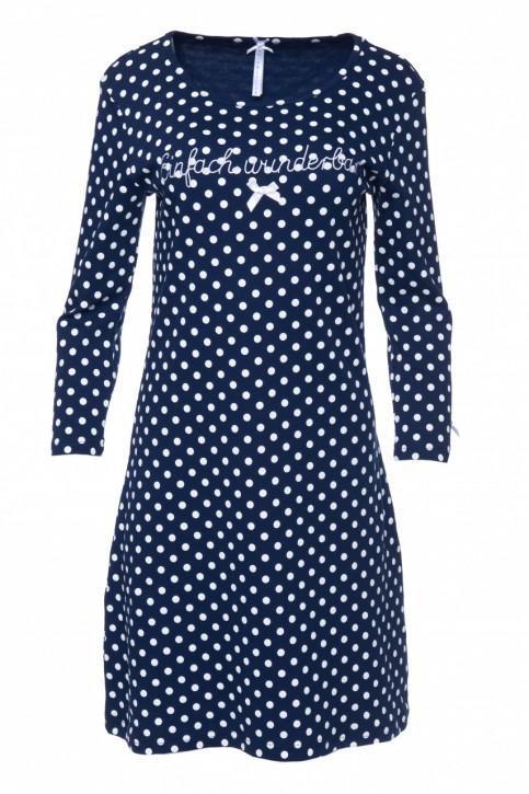 Louis & Louisa Damen Nachthemd EINFACH WUNDERBAR blau Allover