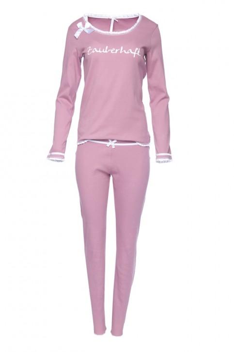 """Louis & Louisa Damen Schlafanzug/Pyjama """"Zauberhaft"""" rosa"""