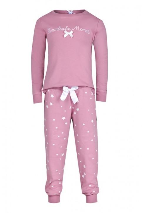Louis & Louisa Mädchen Schlafanzug/Pyjama HIMMLISCHE MOMENTE rosa allover