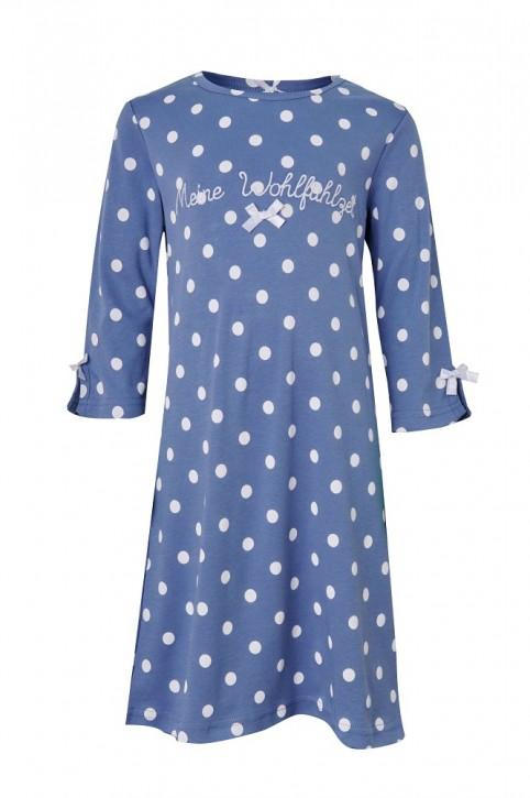 Louis & Louisa Mädchen Nachthemd MEINE WOHLFÜHLZEIT infinity blau allover