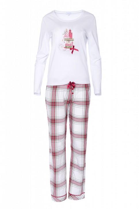 "Louis & Louisa Damen Schlafanzug/Pyjama ""Geschenke"" Karo"