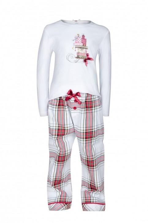 Louis & Louisa Mädchen Schlafanzug/Pyjama GESCHENKE weiß flanell