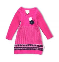 Pezzo D´oro Strick-Kleid pink pattern