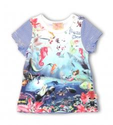 Pezzo D´oro T-Shirt Fleur-de-Lis weiß