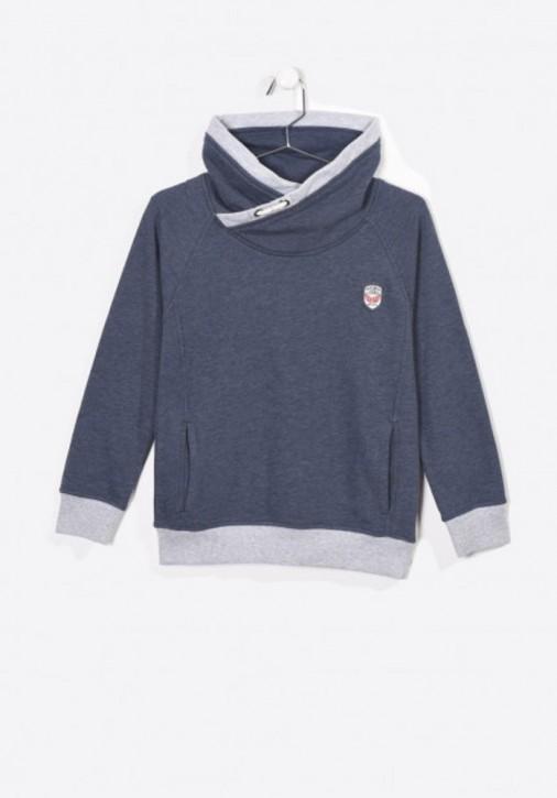 Kaporal Schalkragen-Sweat-Shirt/Hoodie MALO navy meliert