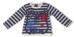 Pezzo D´oro Sweat-Shirt Streifen mit Print